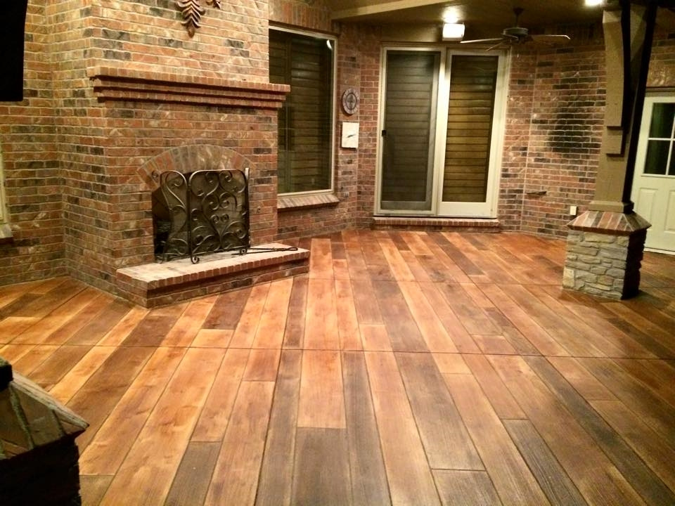 Concrete Wood Floors : Decorative concrete stamped driveway milford mi