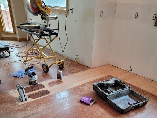 Matching Stain for Refinishing of Hardwood Floor in Milford